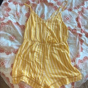 PacSun Lottie Moss collection yellow romper